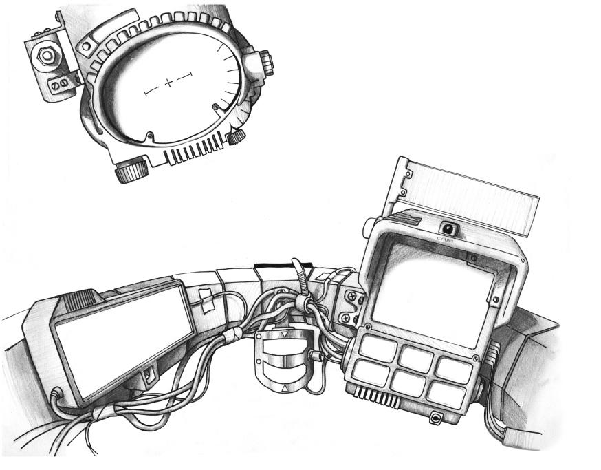 early sketch of Walker cocpit